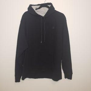 CHAMPION Black Hoodie Sweatshirt Size XL